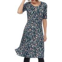 Brora Liberty Print Jersey Dress, Prussian Garden