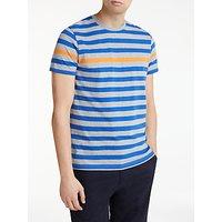 Kin Breton Odd Stripe T-Shirt, Grey/Blue