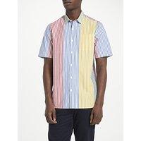 Kin by John Lewis Block Multi Stripe Short Sleeve Shirt, Multi