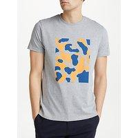 Kin Camo Placement Print T-Shirt, Grey