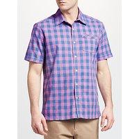 John Lewis & Partners Marl Gingham Check Slim Fit Shirt, Blue/Pink