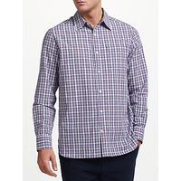 John Lewis & Partners Leon Check Shirt, Purple