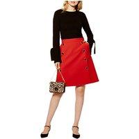 Karen Millen Modern Tailored Collection Skirt, Red