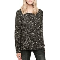 Gerard Darel Wool Blend Jumper, Black/Multi