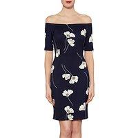 Gina Bacconi Julia Floral Print Dress, Navy