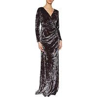 Gina Bacconi Odette Crushed Velvet Maxi Dress