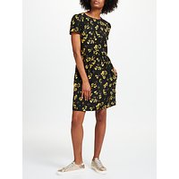 Collection WEEKEND by John Lewis Artist Brush Stroke Print Dress, Black/Yellow