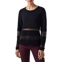 Finery Craster Rippled Stitch Knitted Jumper, Black