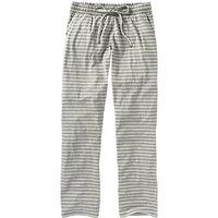 Fat Face Jersey Stripe Classic Pyjama Trousers, Grey Marl