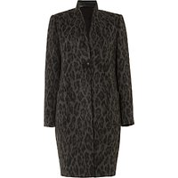 Damsel in a dress Rowan Leopard Print Coat, Charcoal/Black