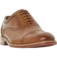 Dune Paulie Leather Oxford Shoes, Brown