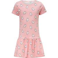 John Lewis Girls' Cat Print Dress, Pink