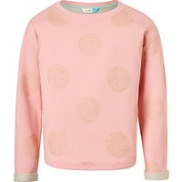 John Lewis Girls' Glitter Spot Sweatshirt, Pink