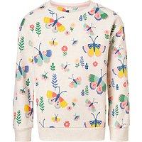 John Lewis Girls' Butterfly Sweatshirt, Cream