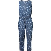 John Lewis Girls Denim Jumpsuit, Blue