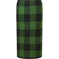 Marc Cain Knitted Check Skirt, Pine Needle