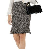 Marc Cain Herringbone Print Skirt, Charcoal