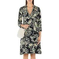 Marc Cain Silk Rich Floral Print Dress, Black