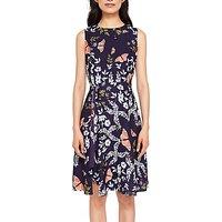 Ted Baker Jenessa Asymmetric Dress, Blue/Multi