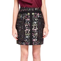 Ted Baker Addizon Unity Floral Skirt, Black/Multi