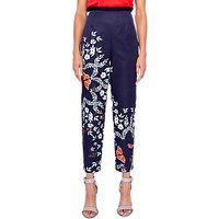 Ted Baker Leonna Tapered Trousers, Blue/Multi