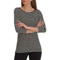 Betty Barclay Striped T-Shirt, Black/Natural