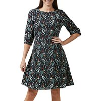 Sugarhill Brighton Cate Enchanted Woodland Dress, Black/Multi