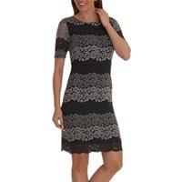 Betty Barclay Lace Shift Dress, Grey/Black
