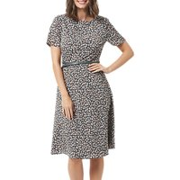 Sugarhill Boutique Remi Petal Print Dress, Grey