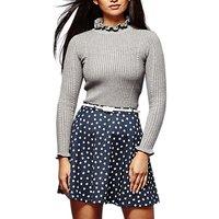 Yumi Sweet Daisy Print Skirt, Blue/White