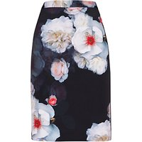 Ted Baker Lieyaa Chelsea Pencil Skirt, Black/Multi