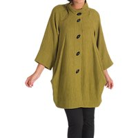 Chesca Textured Jacquard Coat, Lime