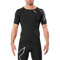 2xu Compression Short Sleeve Training Top, Black/silver