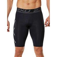 2XU Accelerate Compression Mens Shorts, Black/Silver