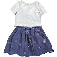 Angel and Rocket Girls Mesh Tulle Dress, Navy