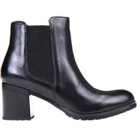 Geox New Lise Rounded Ankle Boots, Black Leather