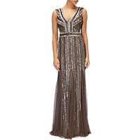 Adrianna Papell Beaded Long Dress, Lead
