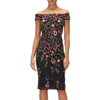 Adrianna Papell Petite Floral Sheath Dress, Black/Multi