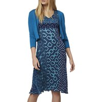 East Paloma Print Pleated Dress, Aqua