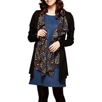 Yumi Waterfall Cardigan, Black