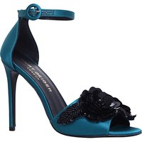 Kurt Geiger Slay Embellished Stiletto Heeled Sandals, Teal