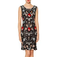 Gina Bacconi Scarlett Floral Beaded Dress, Black