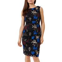 Fenn Wright Manson Petite Lulu Sleeveless Shift Dress, Black/Multi