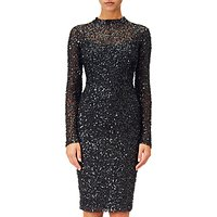 Adrianna Papell Sequin Dress, Black