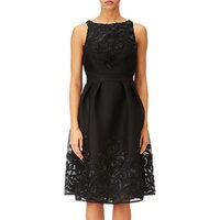 Adrianna Papell Soutache Mesh Dress, Black