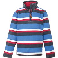 Fat Face Childrens Jamie Striped Top, Blue