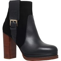 KG by Kurt Geiger Sibling Block Heeled Ankle Boots, Black