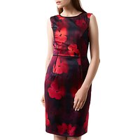 Fenn Wright Manson Silk Rich Poppy Print Dress, Red