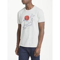 JOHN LEWIS & Co. Japanese Map Graphic T-Shirt, Ecru