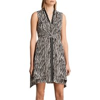 AllSaints Jayda Silk Zebra Dress, Multi